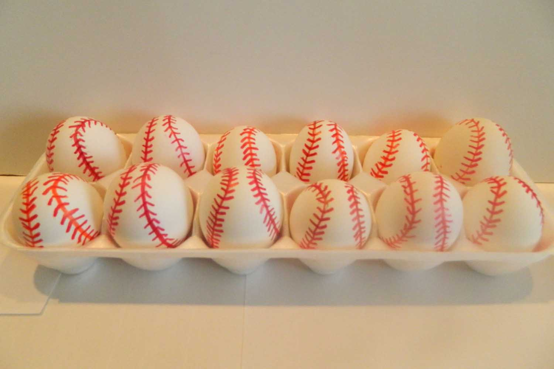 baseball cascarones confetti