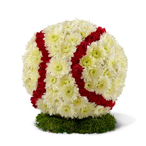 baseball floral arrangement