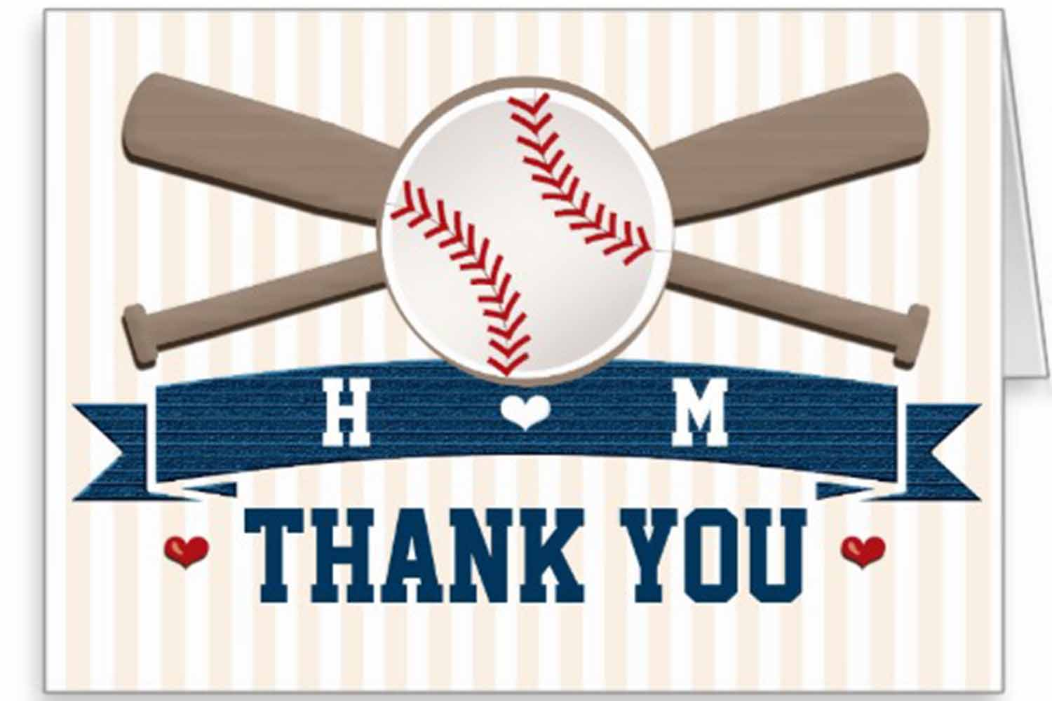baseball thank you notes