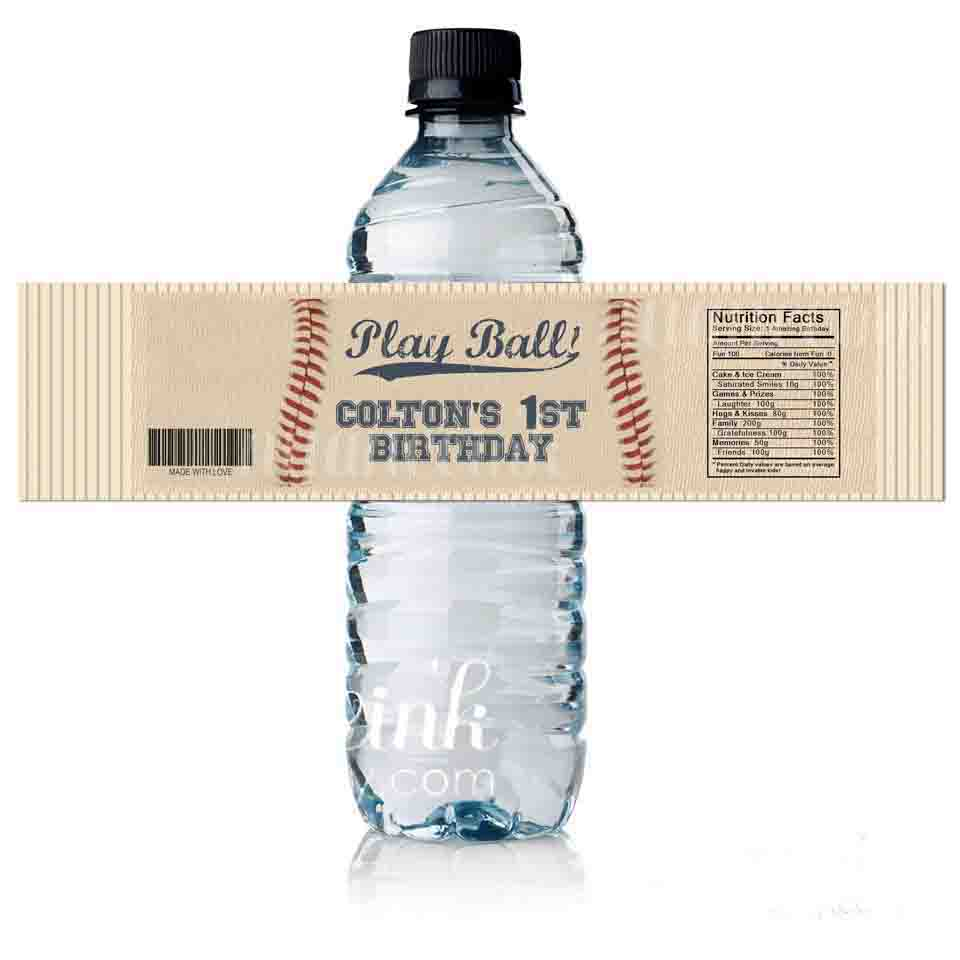 baseball bottle labels