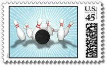 bowling postage stamps