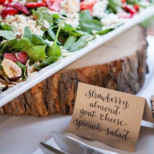 buffet table food tent labels