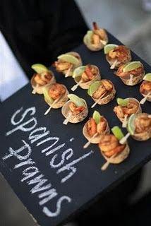 chalkboard buffet food trays
