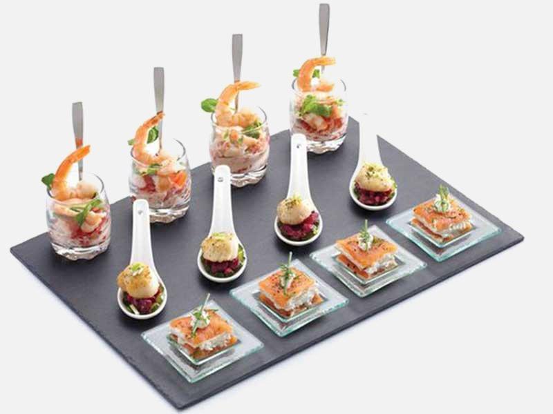 buffet table food presentation