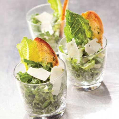 individual mini ceasar salad
