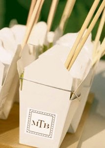 personalized chinese take out boxes for weddings