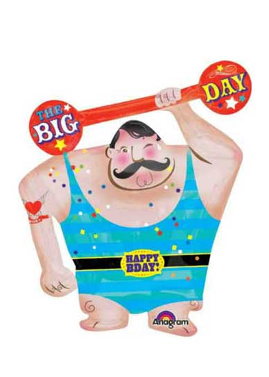 carnival strong man balloon