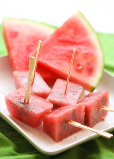 minted watermelon popsicle