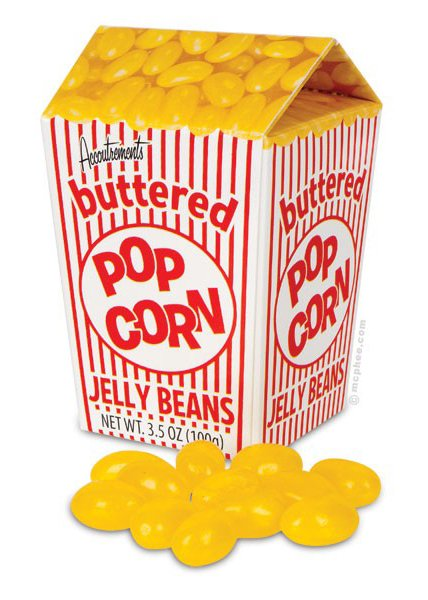 popcorn jellybeans