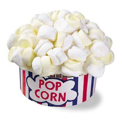 carnival popcorn cupcakes