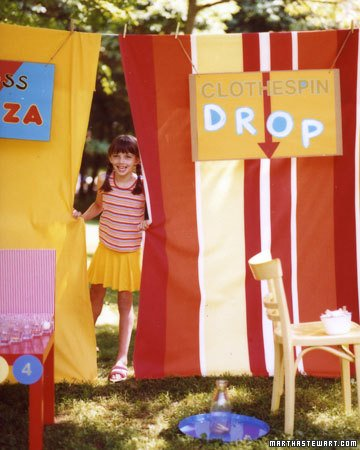 homemade carnival stalls