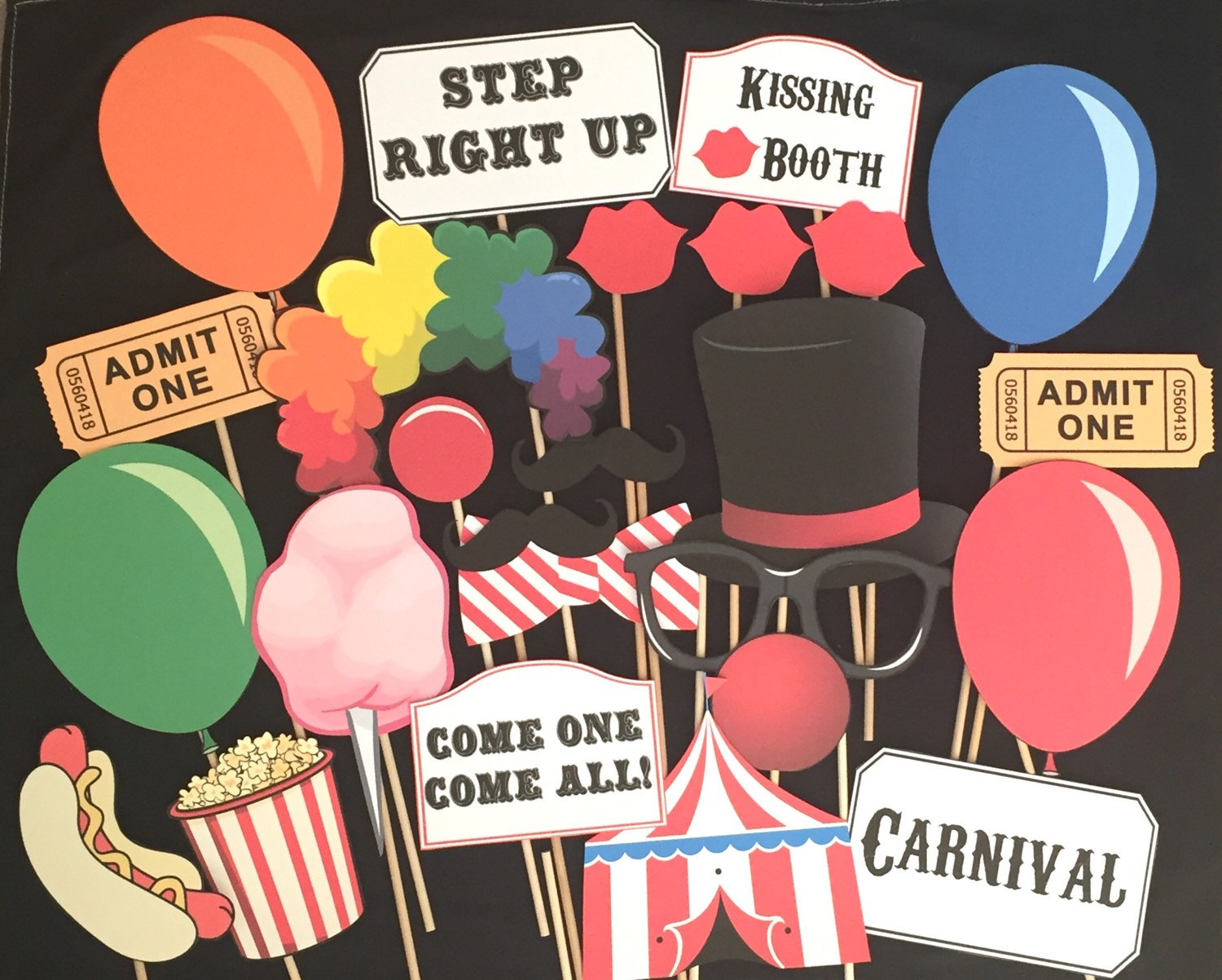 carnival photo booth props