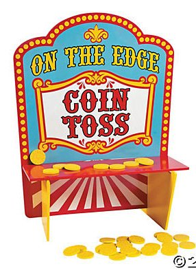 carnival party game coin toss