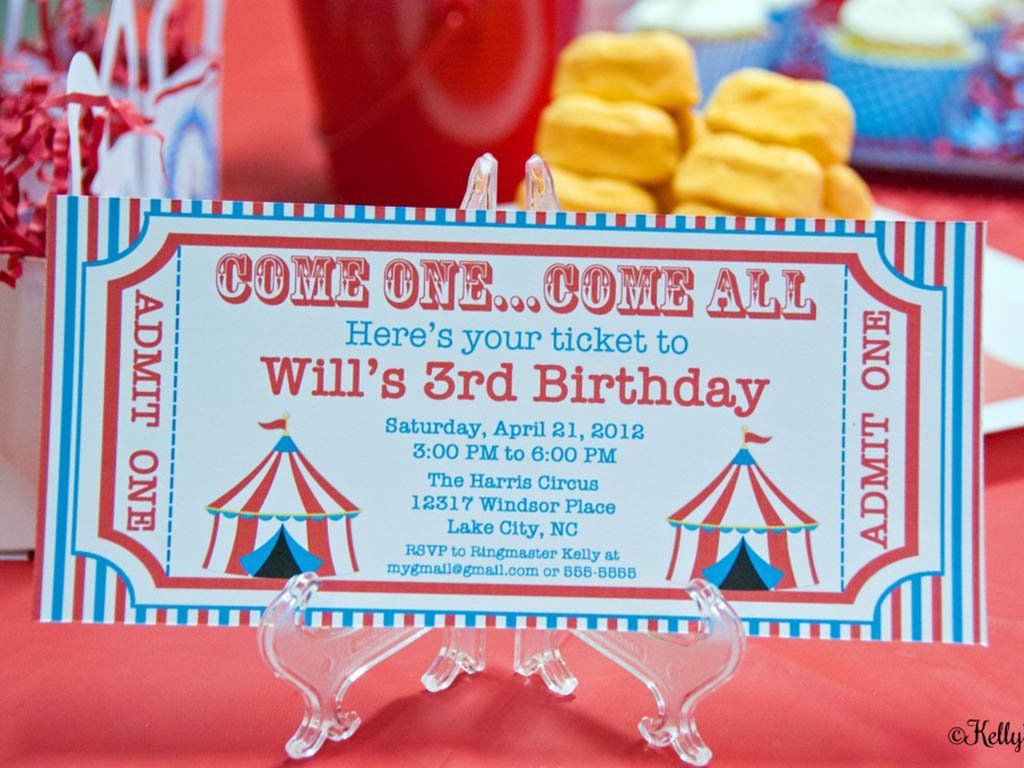 carnival theme party invitation