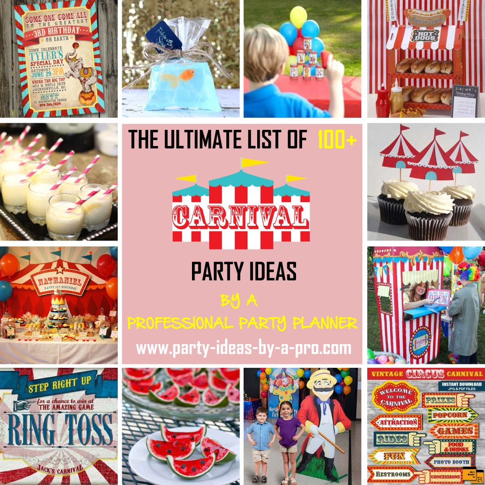 carnival theme party ideas