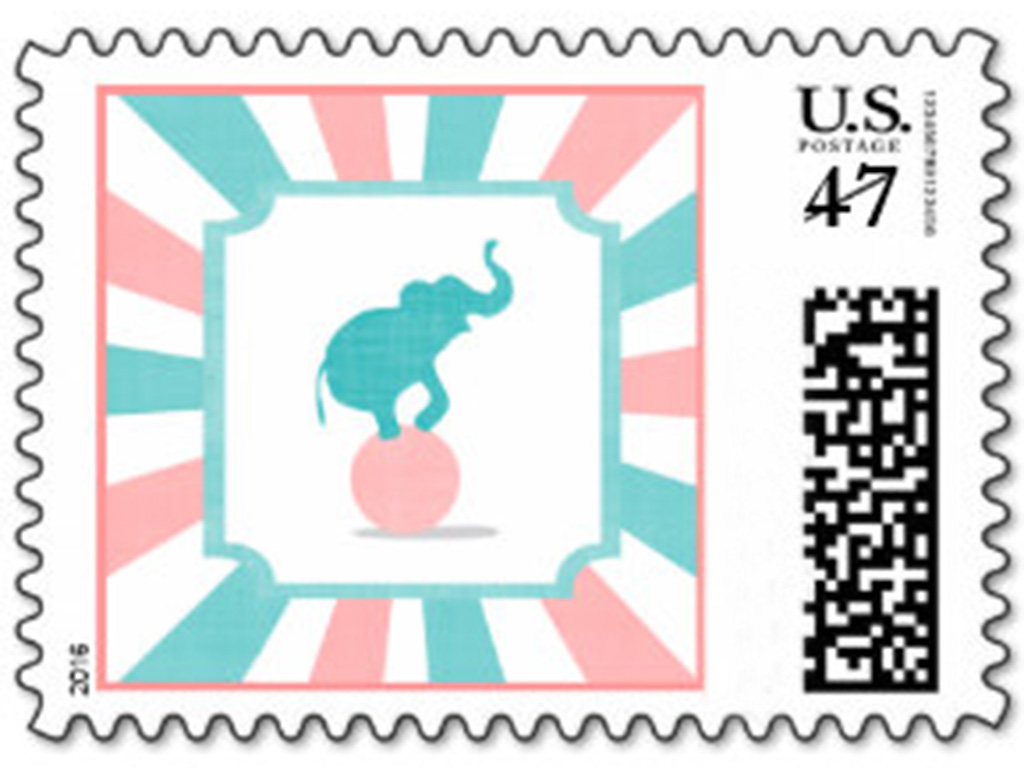 carnival postage stamps
