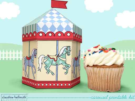 carousel Favor Boxes