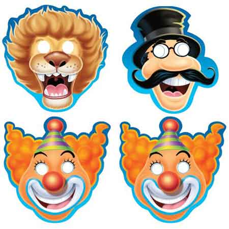 carnival paper masks