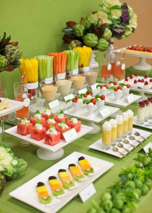 buffet table food display