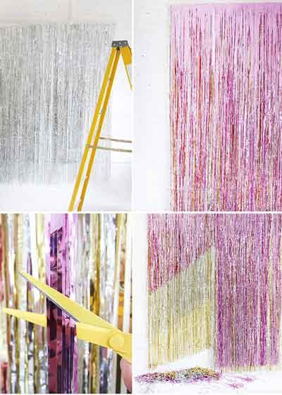 metallic foil curtains