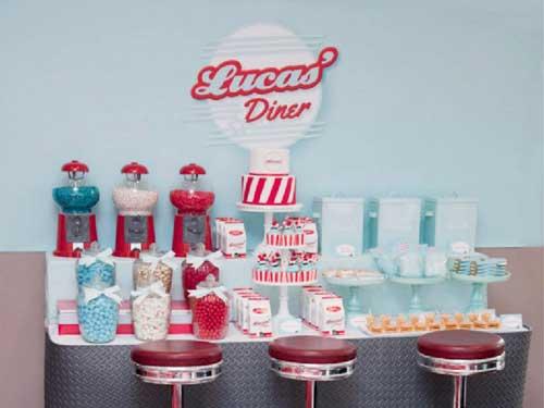 diner themed dessert table