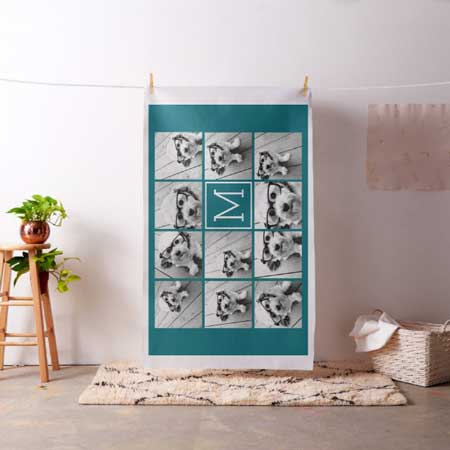 photo collage custom fabric