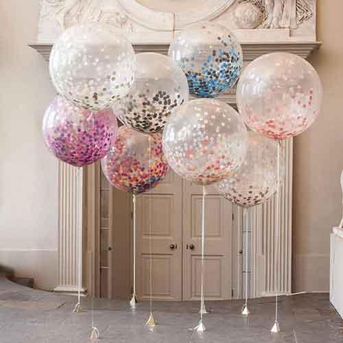 36 inch giant glitter filled balloons