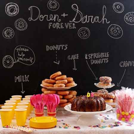 chalkboard dessert table backdrop