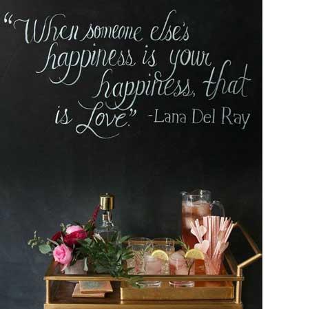 chalkboard quote dessert table backdrop