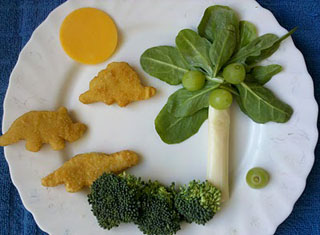 dinosaur chicken nuggets