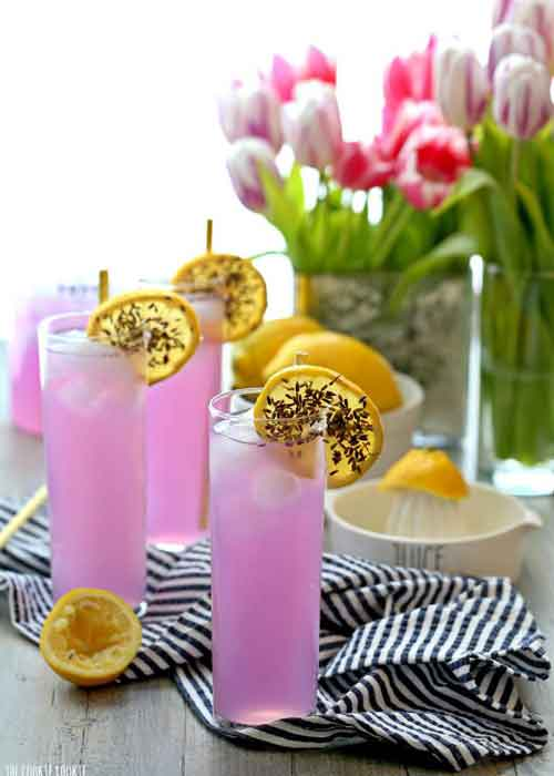 lavender lemonade party drink ideas