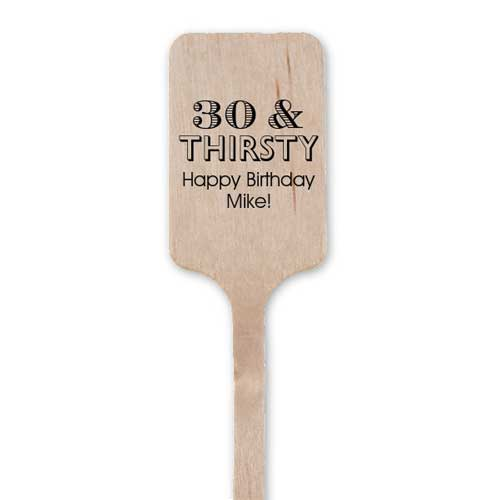 personalized party drinks stirrers
