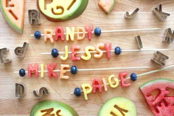 fruit name drinks stirrers