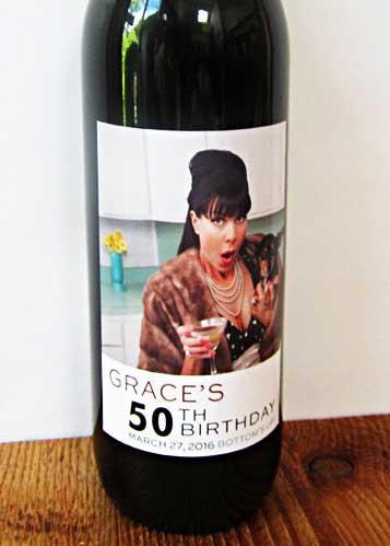 custom photo wine bottle labels