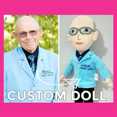 custom plush doll