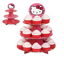 hello kitty cupcake stand