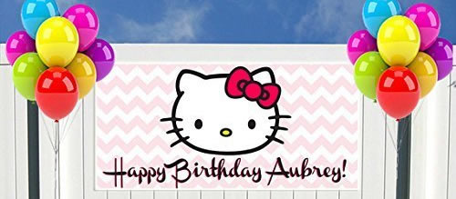 hello kitty personalized party banner