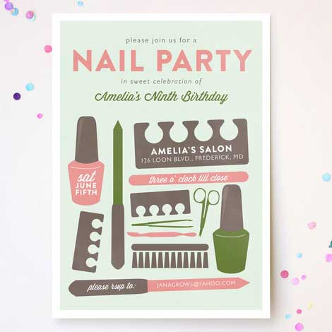 nail party invitation