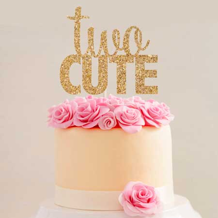 two cute cake topper