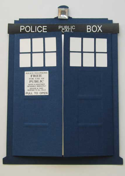 dr who tardis invitation