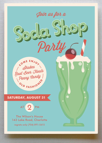 soda shop invitation
