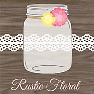 rustic floral party theme