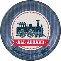 all aboard train party theme