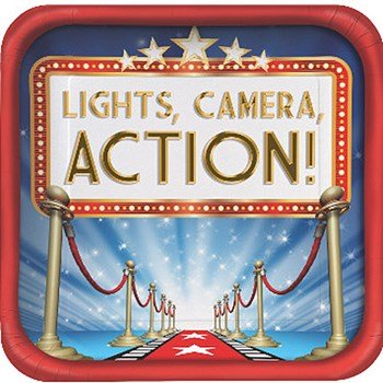 lights camera action party theme