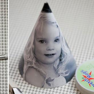 photo cone hat