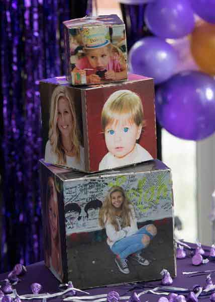stacking photo cube centerpiece