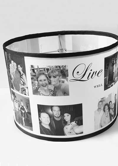 photo collage lampshade