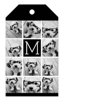 personalized photo collage gift wrapping tag