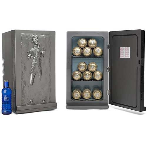 60th birthday gifts han solo carbonite mini beer fridge