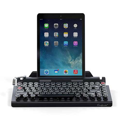 retro mechanical wireless keyboard for tablets or computers